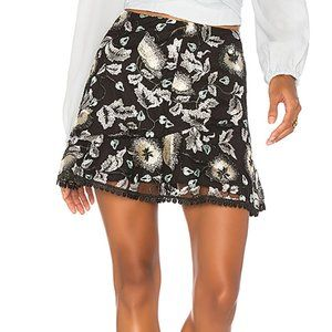 Karina Grimaldi Samatha Lace Flared Skirt Size S